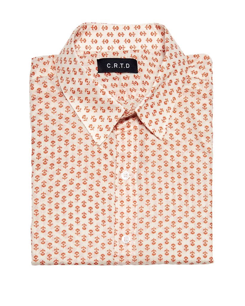 MALINDI SHORT SLEEVE SHIRT IN ORANGE