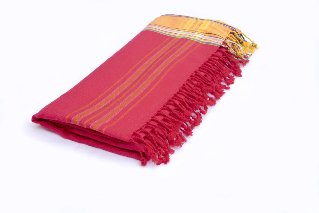 KIKOY TOWEL IN RED & ORANGE