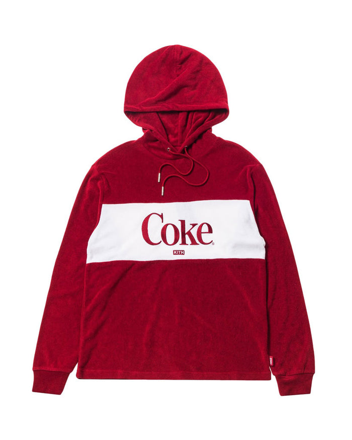 Kith Women x Coca-Cola Red Terry Hoodie