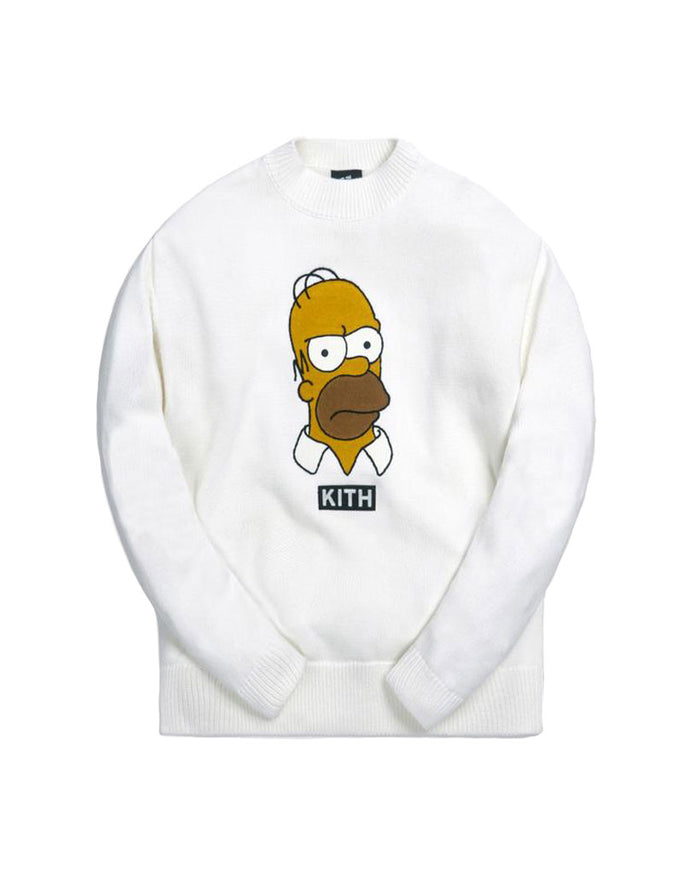 Kith x The Simpsons White Homer Intarsia Sweater