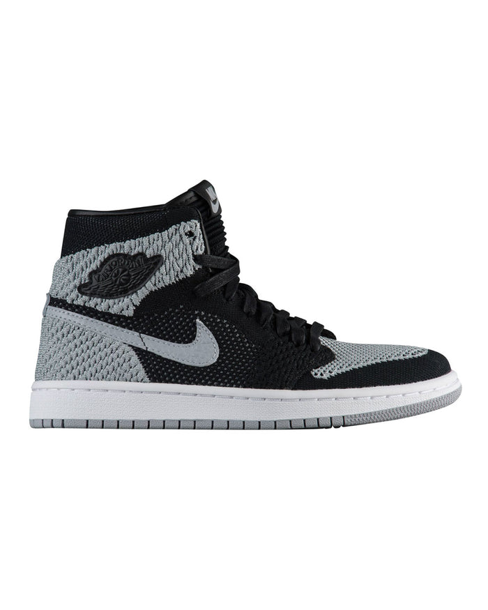 Nike Black Jordan Retro 1 High Flyknit