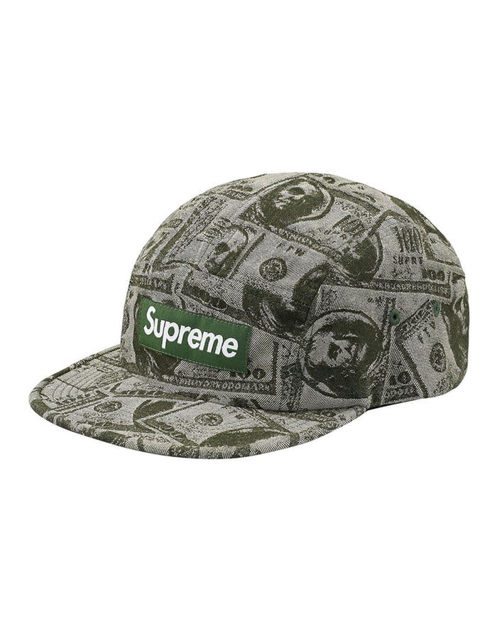 Supreme FW17 Green 100 Dollar Bill Camp Hat