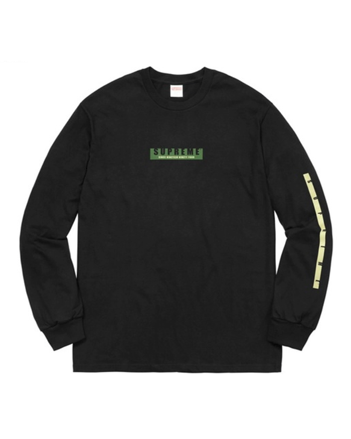 Supreme FW18 Black 1994 Long Sleeve