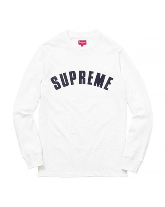 Supreme SS16 White Arc Logo Long Sleeve