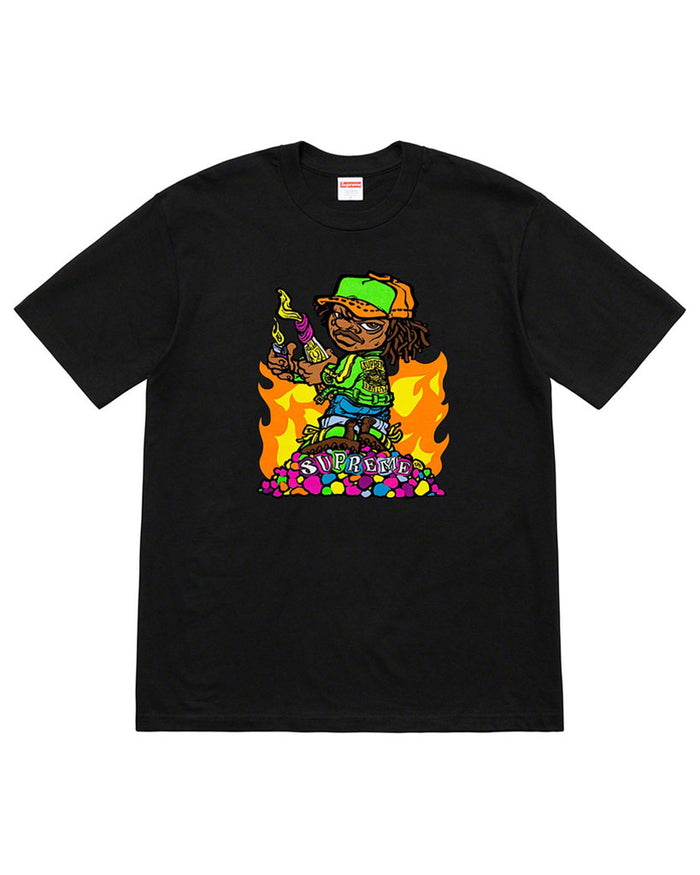 Supreme SS19 Black Molotov Kid T-Shirt