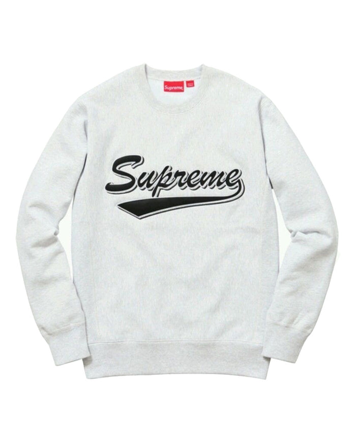 Supreme FW15 Grey Brush Script Crewneck