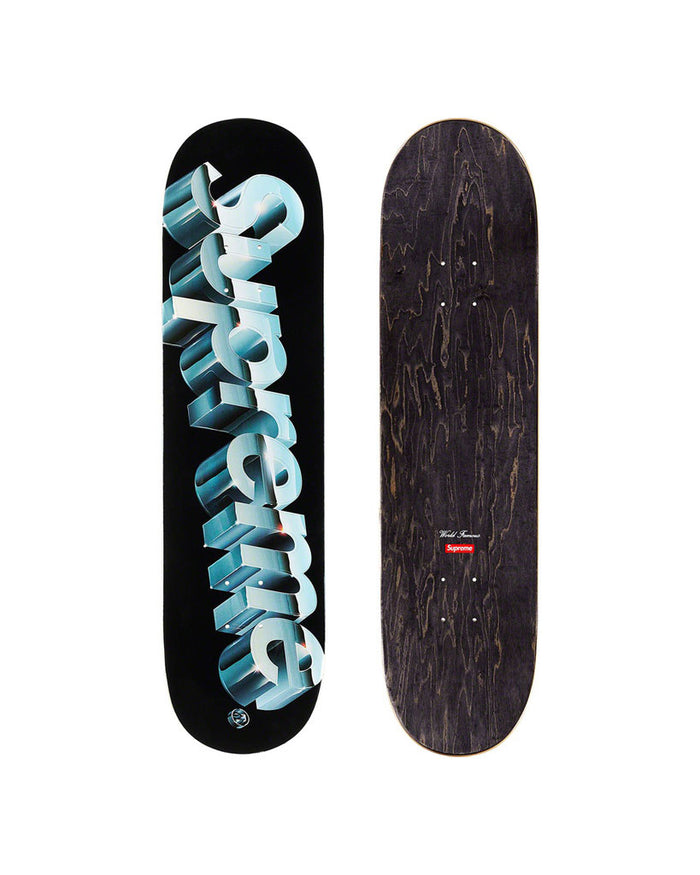 Supreme SS20 Black Chrome Logo Skateboard