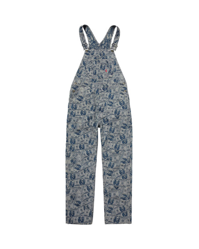 Supreme FW17 Blue 100 Dollar Bill Overalls