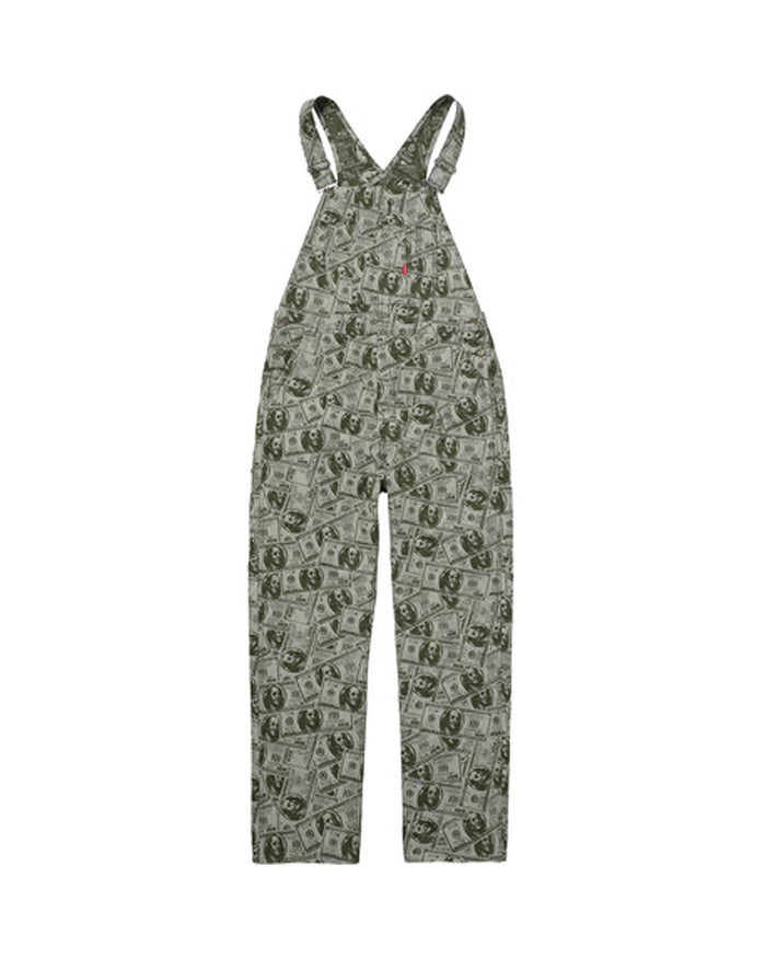 Supreme FW17 Green 100 Dollar Bill Overalls