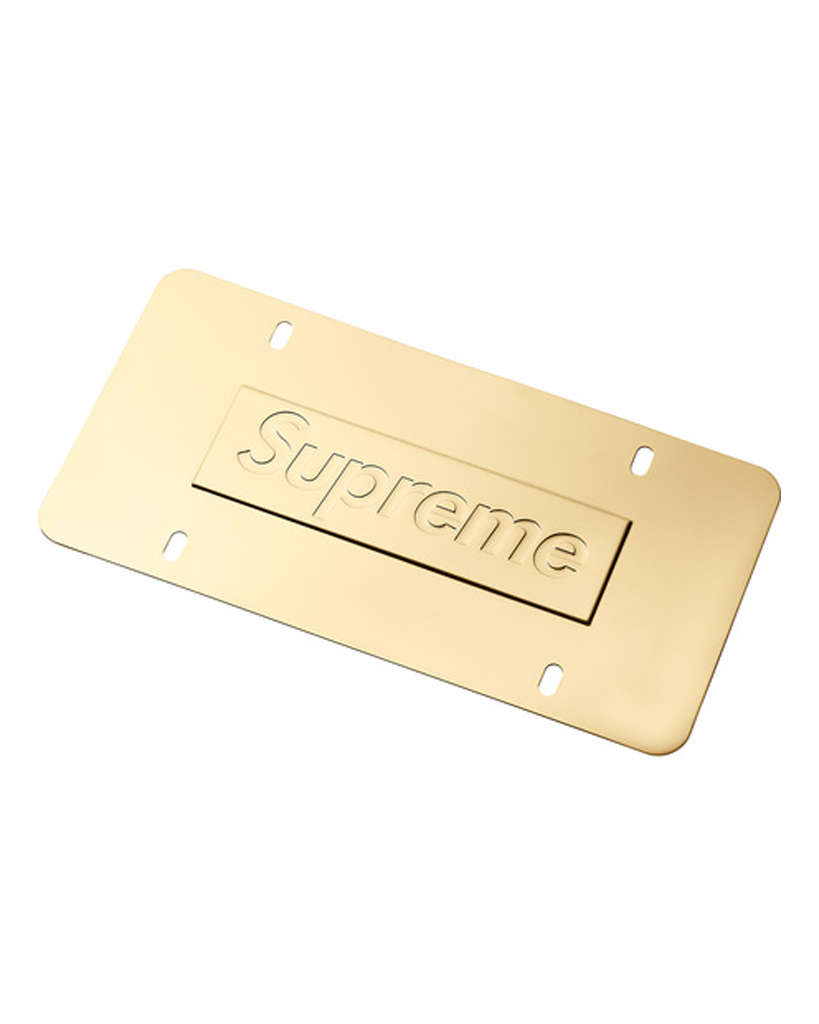 Supreme SS18 Gold Chain License Plate Frame
