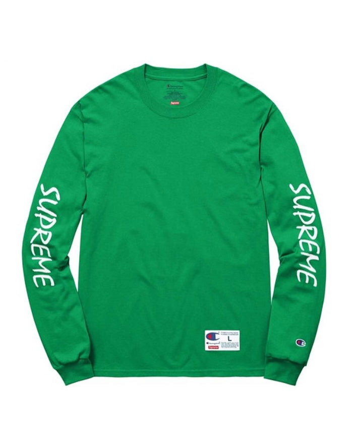 Supreme SS16 Green Champion Long Sleeve