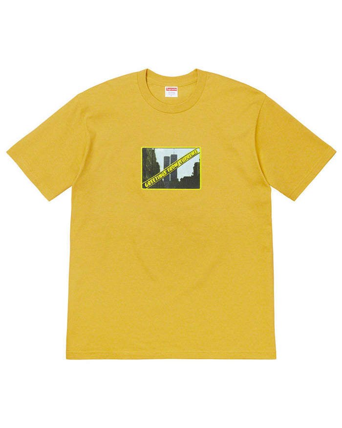 Supreme SS19 Yellow Greetings T-Shirt