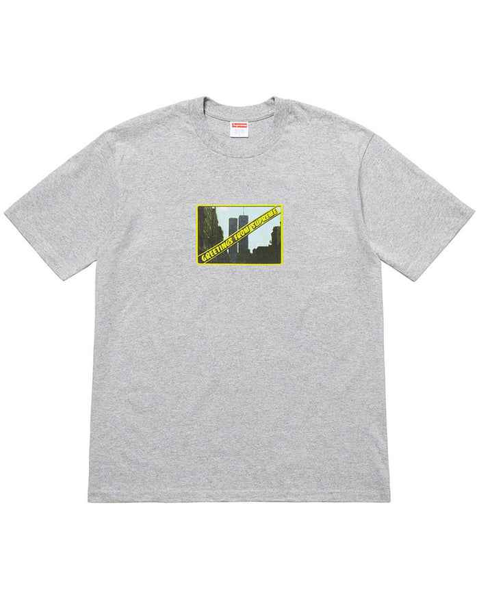 Supreme SS19 Grey Greetings T-Shirt