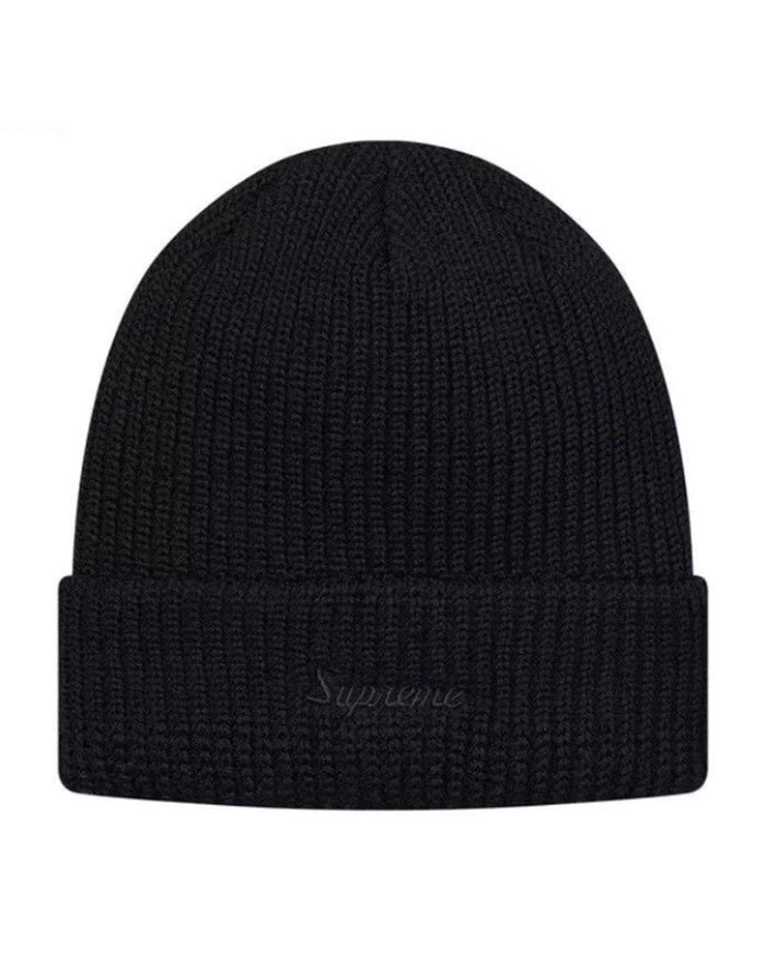 Supreme FW17 Black Loose Gauge Beanie