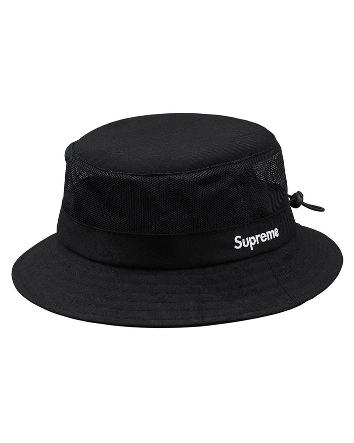 Supreme SS18 Black Cordura Mesh Crusher Hat