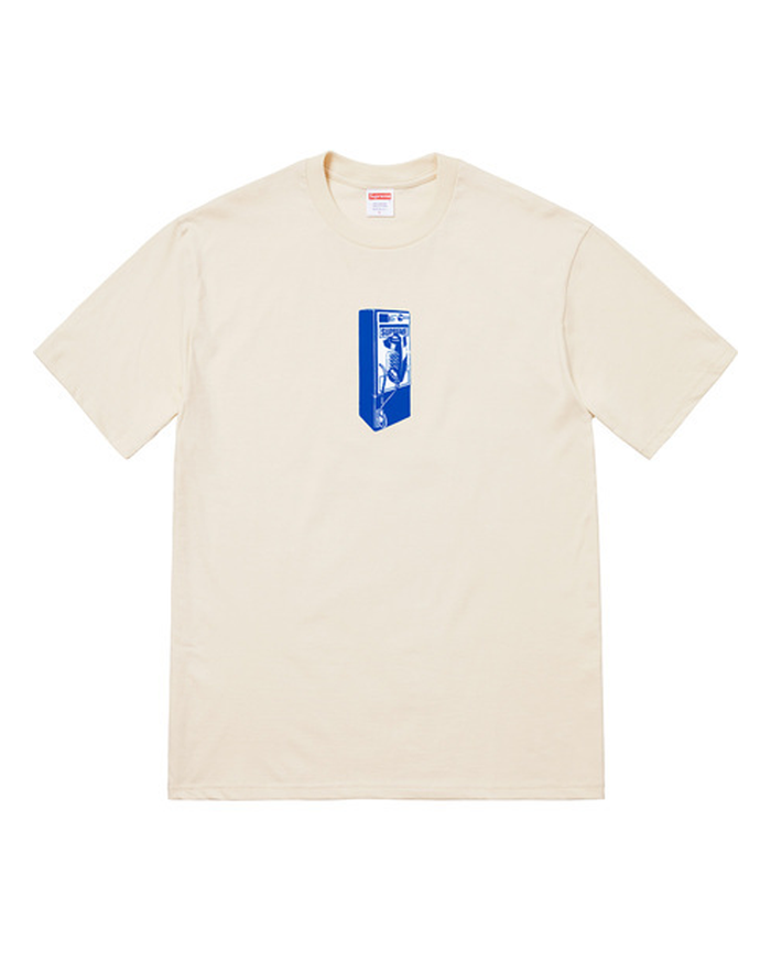 Supreme FW18 Natural Payphone T-Shirt