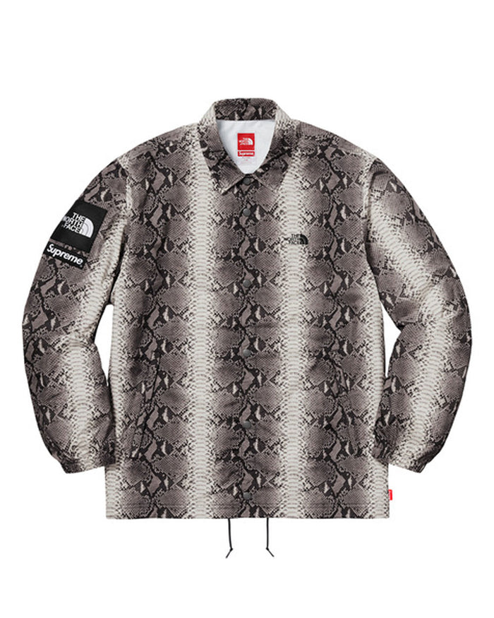 Supreme SS18 Black North Face Snakeskin Taped Seam Coaches Jacket