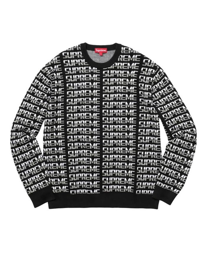 Supreme FW17 Black Repeat Sweater
