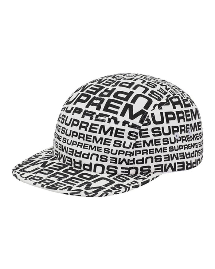Supreme SS18 White Repeater Camp Cap