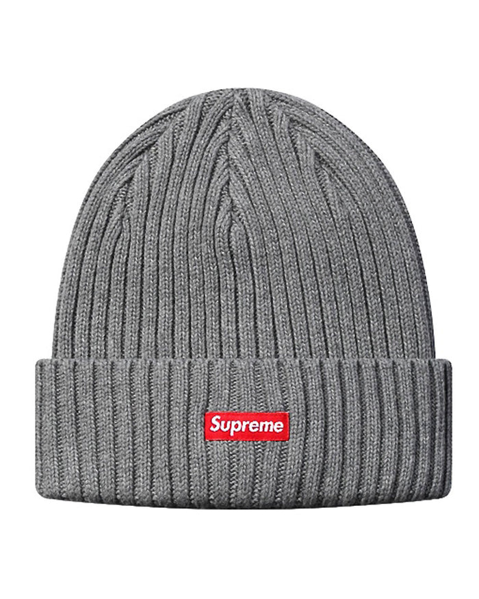 Supreme FW15 Grey Ribbed Beanie