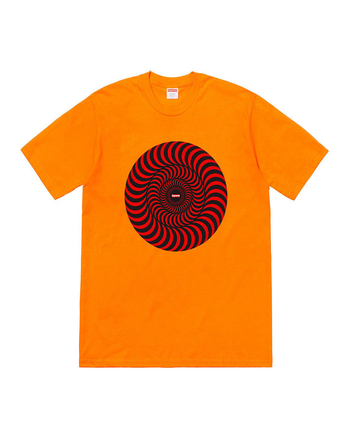 Supreme SS18 Orange Swirl Spitfire T-Shirt