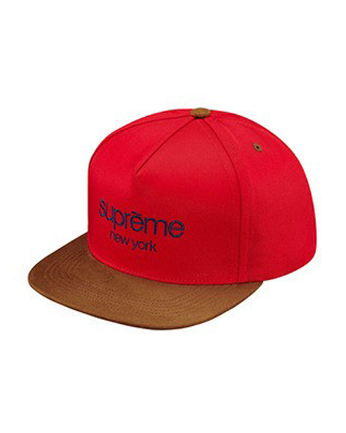 Supreme FW15 Red Classic Logo 5-Panel Hat