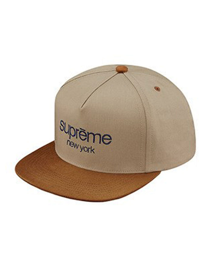 Supreme FW15 Tan Classic Logo 5-Panel Hat