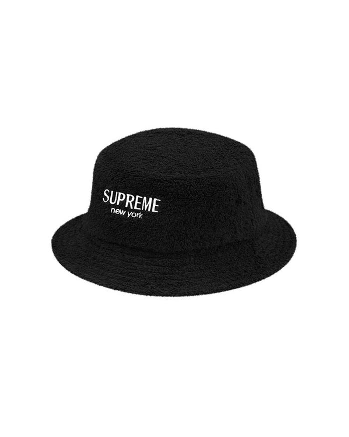 Supreme SS17 Black Terry Crusher Bucket Hat