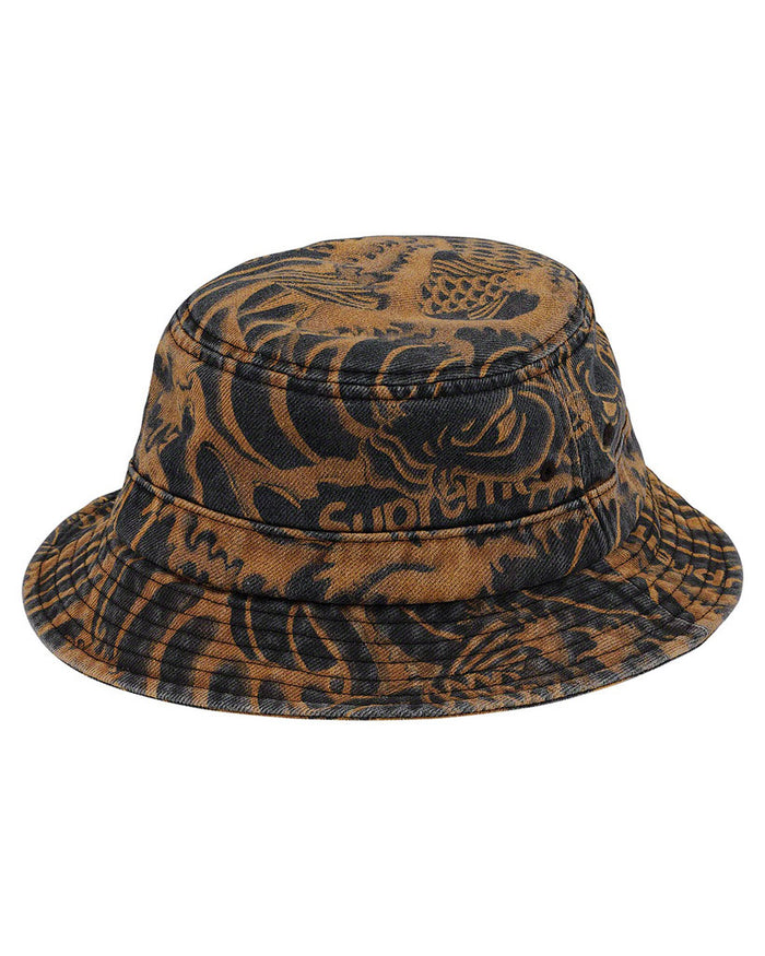 Supreme SS20 Black Waves Crusher Hat