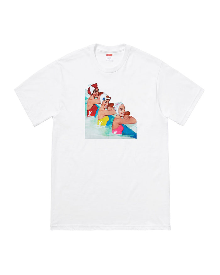 Supreme SS18 White Swimmers T-Shirt