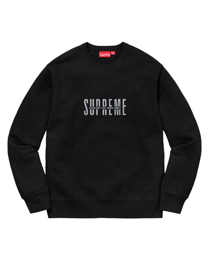 Supreme FW18 Black World Famous Crewneck