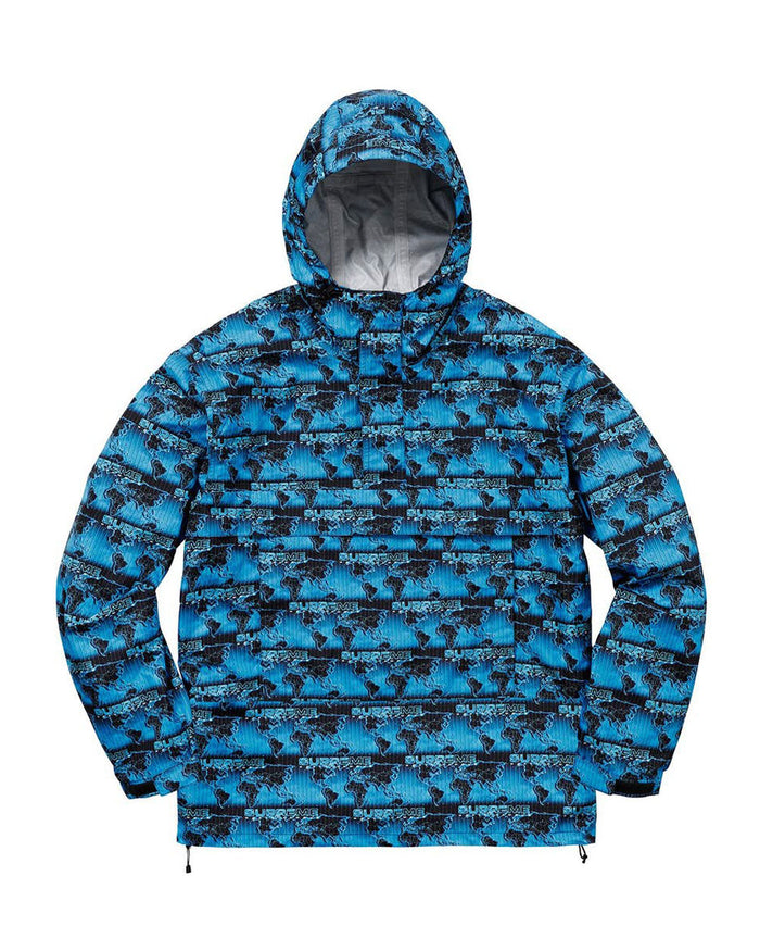 Supreme SS18 Blue World Famous Taped Seam Hooded Pullover