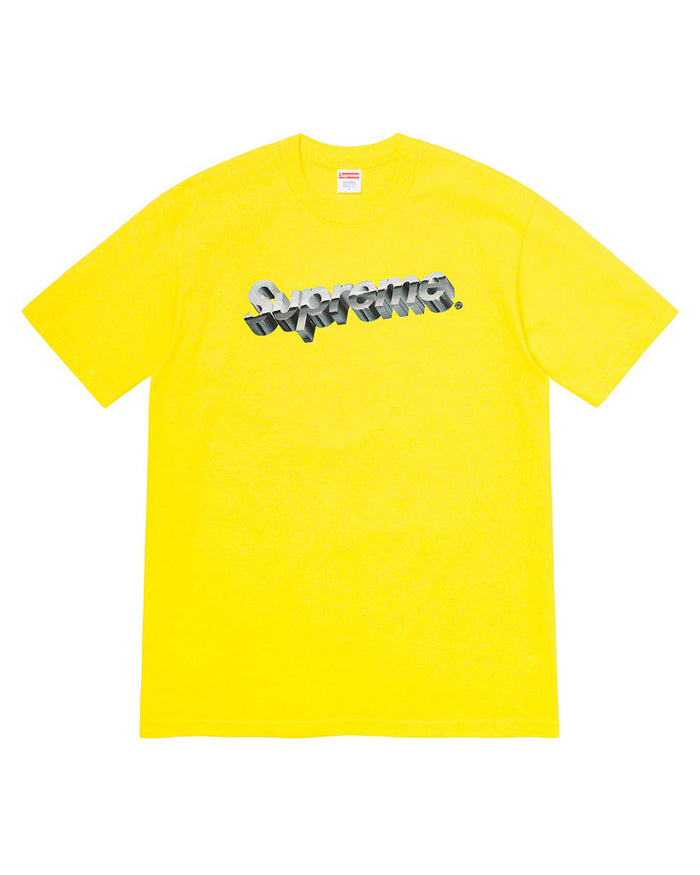 Supreme SS20 Yellow Chrome Logo T-Shirt