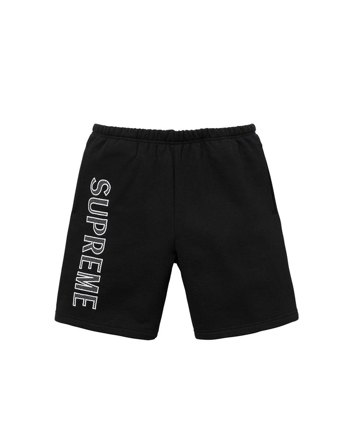 Supreme SS18 Black Leg Embroidered Sweatshorts