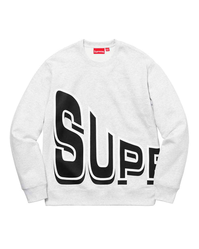 Supreme SS18 Grey Side Arc Crewneck