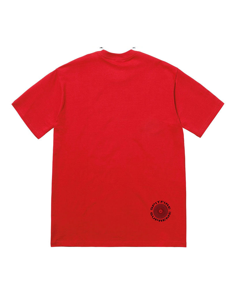 Supreme SS18 Red Swirl Spitfire T-Shirt