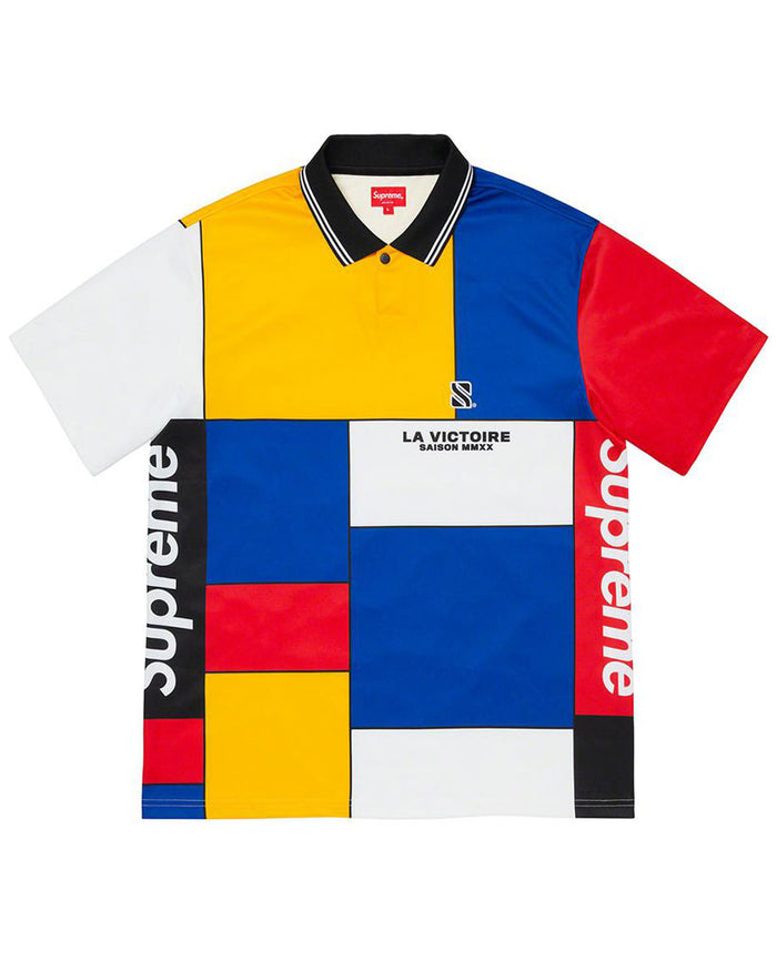 Supreme FW20 Red Colorblocked Soccer Polo