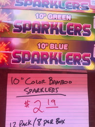 "Sparklers - 10"" Bamboo 12 Pack"
