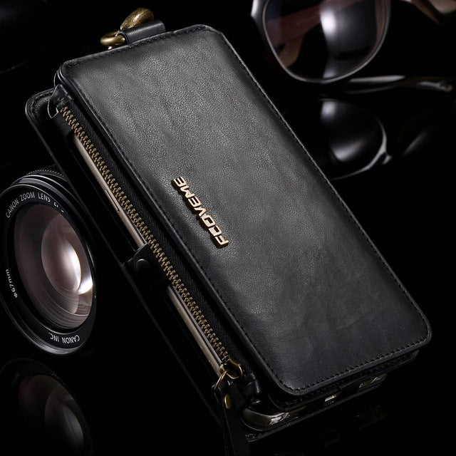 Luxury Retro Leather Wallet Case For Iphone, Samsung and Huawei