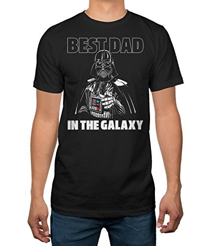 Star Wars Father's Day Darth Vader Best Dad Mens T-shirt (Large)