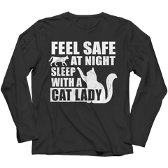 Limited Edition - Feel safe at night sleep with a cat lady