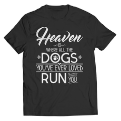 Heaven Is Where All The Dogs You've Ever Loved Run To Greet You