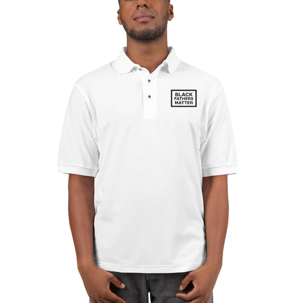 Black Fathers Matter: Men's White Premium Polo
