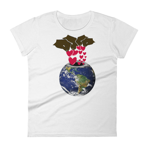 Deposit a Little Love in the World: Women's short sleeve t-shirt