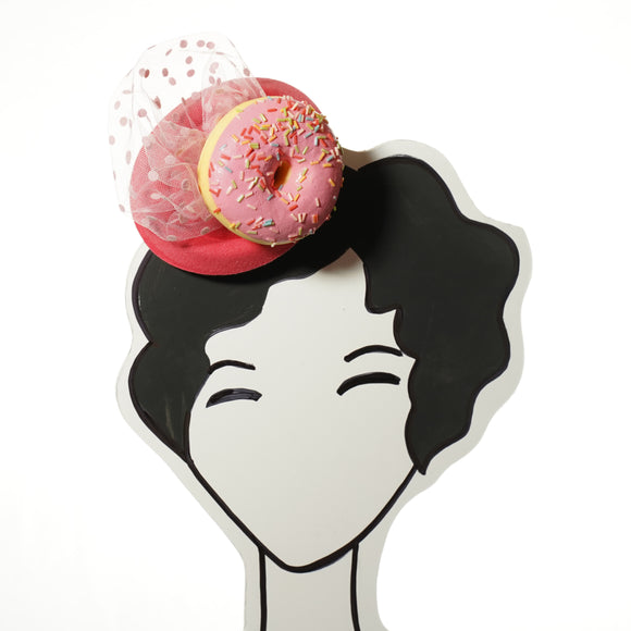Pink Donut fascinator by A Daily Obsession