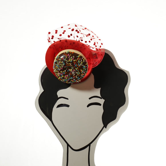 Chocolate donut fascinator by A Daily Obsession