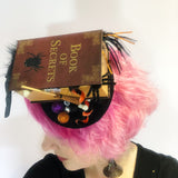 Spooky Book of Spells Fascinator, Witch Hat, Halloween Decoration