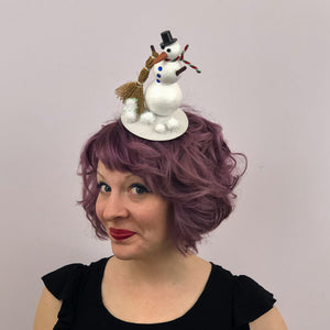 Snowman Fascinator, Winter Snowman Hat