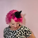 Mini Black Glitter Witch Hat, Mini Witch Hat, Halloween Fascinator