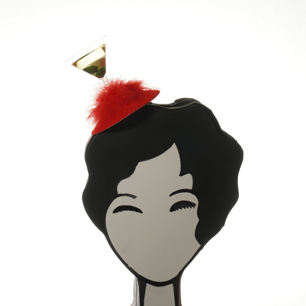 red martini fascinator by A Daily Obsession